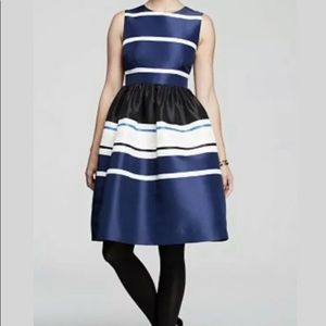 Kate Spade Holiday Striped Fit-and-Flare Dress